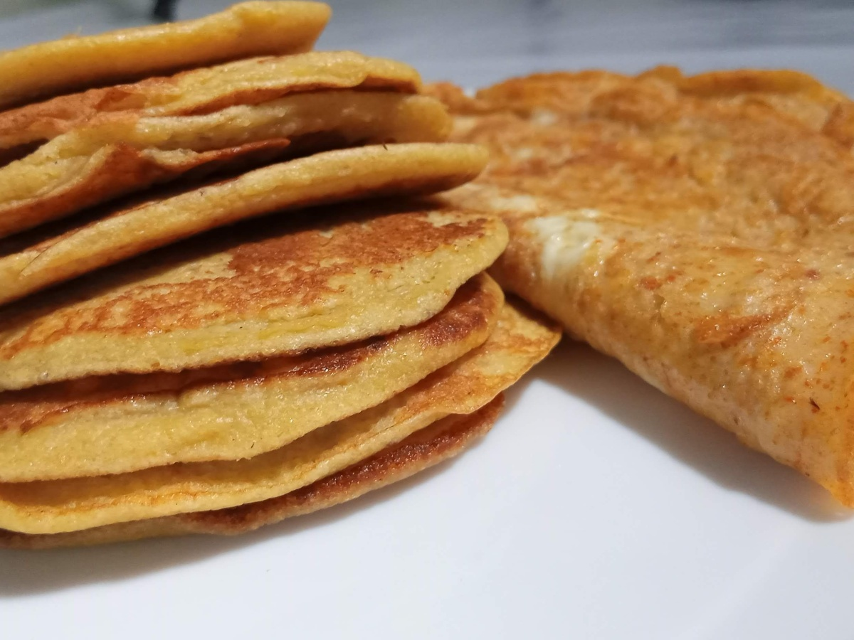 Pancakes with overripe plantains